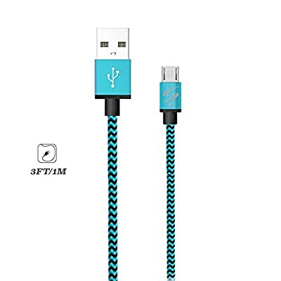 StyleTech Inc. Aluminum Nylon Braided Series 3 Feet Micro-USB Syncing/Charging Data Cable for Android, Samsung, HTC, Windows, Motorola, Tablets, etc.