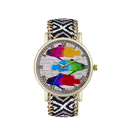 (Fenleo Womens Ladies Analog Quartz Wrist Watch Fashion Simple Watch Thin)