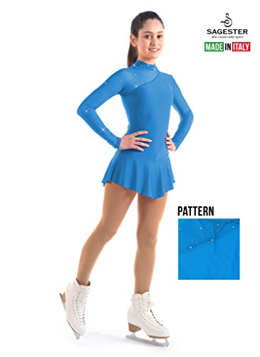 Sagester # 149 / Italy Hand-Made/Ice Skating Dress/SW / Sz: III, Bay Blue