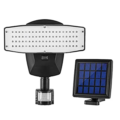Solar Lights outdoor 80-LED Motion Sensor Solar Spotlight for Patio Deck Yard Garden Driveway Pool Area(1 pack)