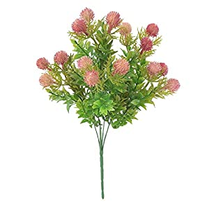 YHCWJZP 1 Bouquet Artificial Dragon Fruit Fake Green Plant Wedding Party Home Decoration - Light Red 14