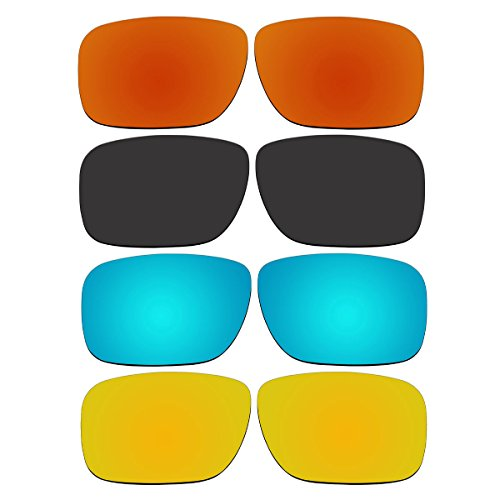 4 Pair Replacement Lenses for Oakley Holbrook Sunglasses With Polarized Pack - Holbrook Size