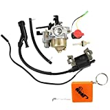 HURI Carburetor + Ignition Coil + Stop Switch + fuel Joint for Honda Gx160 Gx200 5.5Hp 6.5Hp Generator Water Pump Chinese Engine