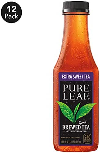 Bottled Tea & Tea Drinks: Lipton Pure Leaf Extra Sweet Tea