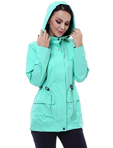 Vessos - Abrigo impermeable - Manga Larga - para mujer Azul