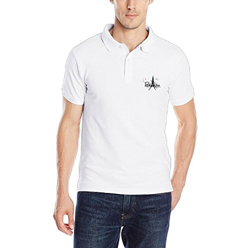 FFRD6G5 FFRD6G Peace Paris Eiffel Tower Performance Fashion Men Short Sleeve Polo Golf - The Does Logo Polo Mean What