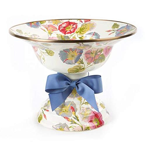 MacKenzie-Childs Morning Glory Compote, Large,Width: 12'' Dia Height: 9'' Material: Enamel