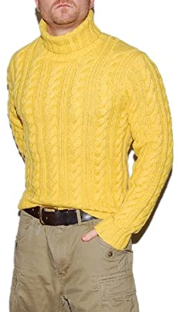 30684e785 Image Unavailable. Image not available for. Color  Polo Ralph Lauren Mens  Cashmere Hand Knit Cable 4-Ply Thick ...