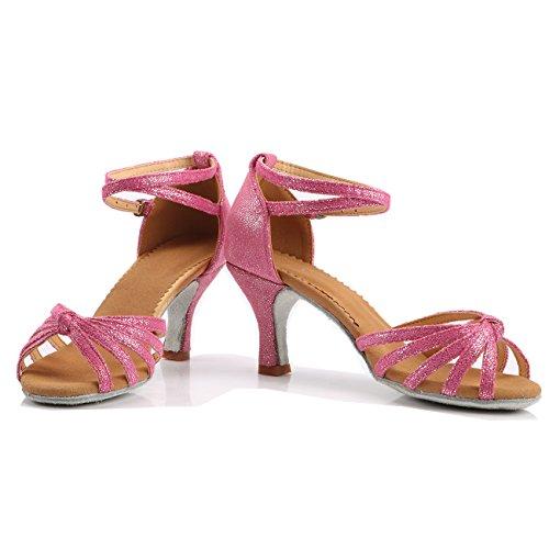 6b5ad60ea12 De bajo costo VESI-Zapatos de Baile Latino de Tacón Alto Medio para Mujer