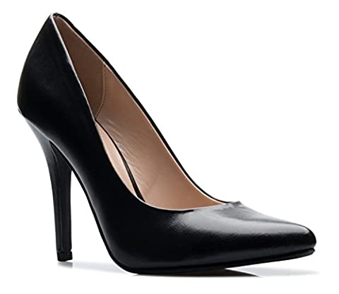 OLIVIA K Women's Classic D'orsay Closed Toe High Stiletto Heel Pump   Dress, Work, Party HIGH Heeled Pumps   Casual - Stiletto Heel Classic Pumps