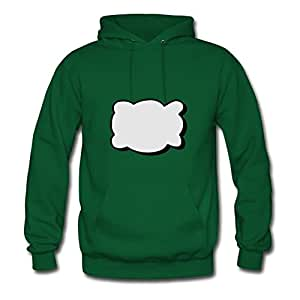 Custom Callout Cloud Green Women Organic Cotton Sweatshirts Fitted Funny X-large