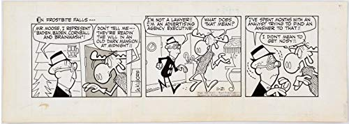 (Rocky and Bullwinkle Original Ink Daily Comic Strip Art signed BY Al Kilgore 1962)