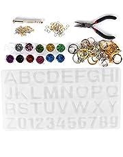 【Geschenk Voor April】Letter en cijfer vormen ketting hanger maken gereedschap alfabet siliconen mal, epoxy mal set, gepersonaliseerd voor sieraden maken doe-het-zelvers