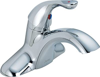 Delta Commercial 501LF-HDF Classic Single Handle Centerset Bathroom Faucet Less Pop-Up, Chrome from Delta