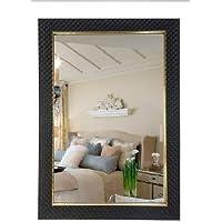 Mirrors n Image Black Frame Decorative Mirror (Size 15X21 Inch)