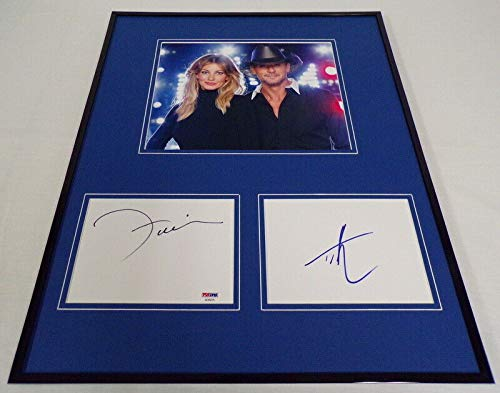 - Tim McGraw & Faith Hill Dual Signed Framed 16x20 Photo Display PSA/DNA