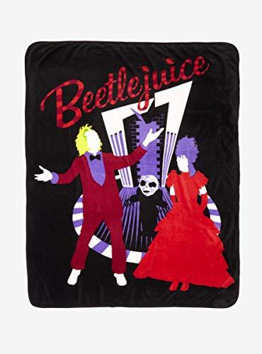 Beetlejuice Wedding Silhouette Throw Blanket