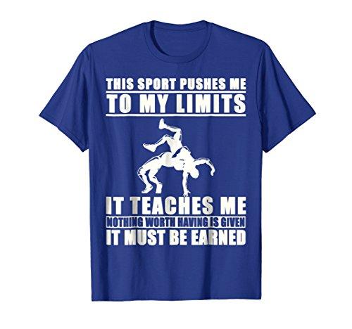 Mens It Must Be Earned Wrestling T-Shirt XL Royal Blue by It Must Be Earned Wrestling Shirt