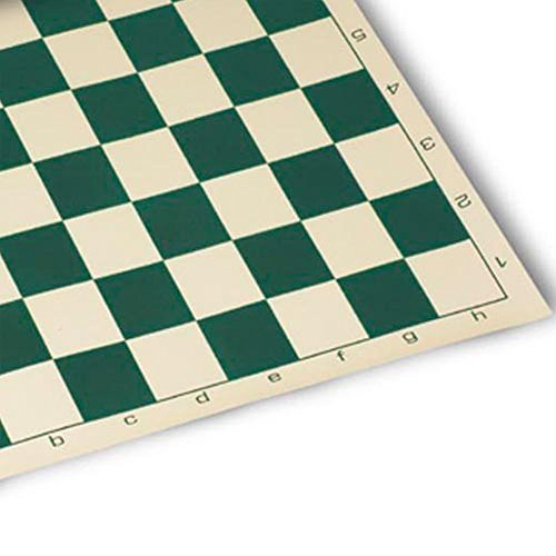 Roll Up Chess Mat Board Game, Green, One Size