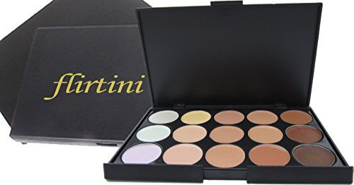 UPC 799975497280, FLIRTINI 3D Look Cream Foundation and Camouflage Concealer 15 color makeup palette. Versatile uses for Cheeks,Lips,and Eyes