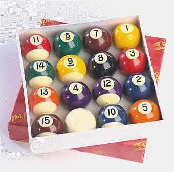 5,08 cm Supapro billar 16 bolas conjunto deportes y rayas: Amazon ...