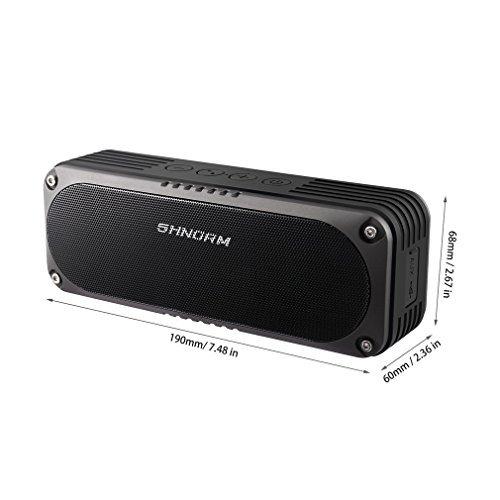 Portable Boom 2 Bluetooth Speaker Waterproof Wireless Stereo Speakerphone,Outdoor Mbluetooth Speakers Output Soundbox for iPhone Samsung, Camping, Pool, Beach, Barthroom, Home