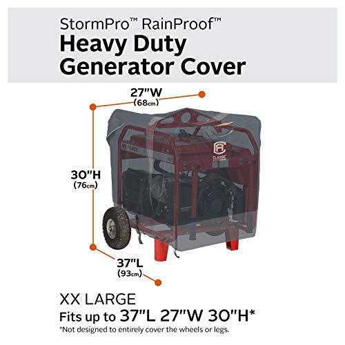 Classic Accessories StormPro RainProof Heavy Duty Generator Cover, XX-Large by Classic Accessories (Image #2)