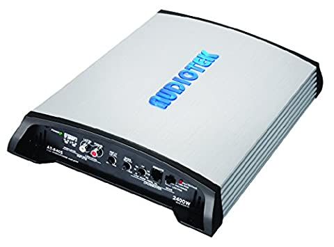 Audiotek At840S 2 Channels Class Ab 2 Ohm Stable 2400W Stereo Power Car Amplifier W/ Bass Control (Auto Tek Car Amp)