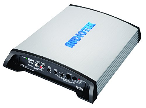 Audiotek At840S 2 Channels Class Ab 2 Ohm Stable 2400W Stereo Power Car Amplifier W/Bass ()