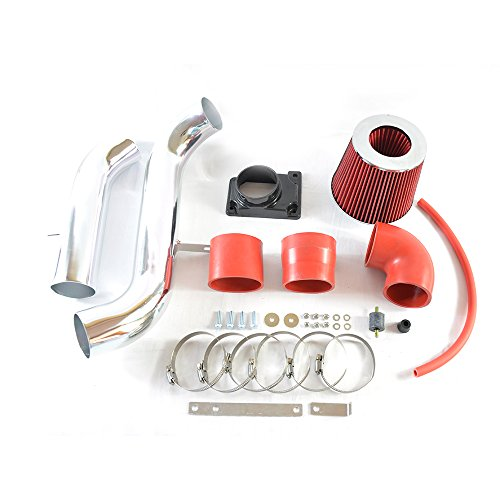 Intake Pipe Performance Cold Air Intake Induction Kit With Filter For Mitsubishi Eclipse 1999 2000 2001 2002 2003 2004 2005 2.4L/3.0L(red)