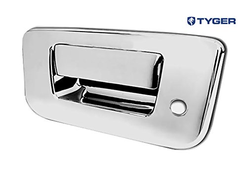 Tyger ABS Triple Chrome Plated Tail Gate Handle Cover Fits 07-13 Chevy Silverado/GMC Sierra (Not for Classic) Tailgate Deluxe with Keyhole