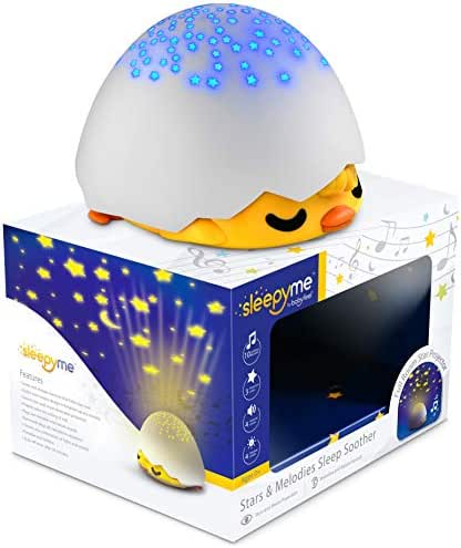 SleepyMe Smart Sleep Soother   Baby & Toddler Star Projector   White Noise Sound Machine   Baby Gifts   Portable Sleep Aid Night Light with 10 Songs for Crib   Shusher Sound Machine for Kids