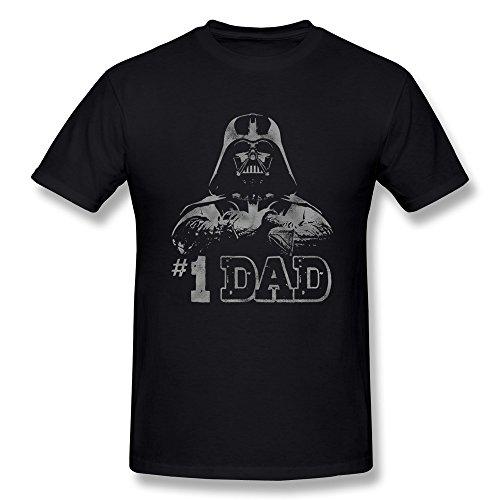 Jahei Custom Star Wars #1 Dad Darth Vader Shirts For Men Short Sleeve Black XL (Lego Custom Star Wars The Force Awakens)
