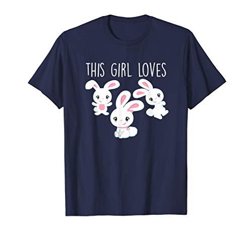 - Bunny T-Shirt: This Girl Loves Bunnies Tee Love Anime Gift