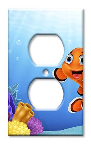 Art Plates Duplex Outlet Cover Wall Plate - Friendly Clown Fish ()