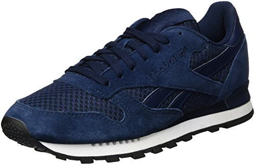 discount with credit card Reebok Men's Classic Leather Clip Tech Low-Top Sneakers Blue (Collegiate Navy/White/Black) outlet new 7oe2LN0D