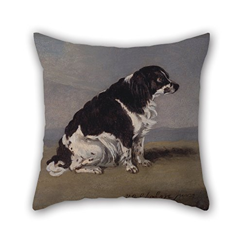 Artistdecor Throw Cushion Covers Of Oil Painting Henry Bernard Chalon - The Duchess Of York's Spaniel,for Lounge,chair,divan,bench,car Seat,gril Friend 18 X 18 Inches / 45 By 45 Cm(twin Sides) - York Lounge Chair