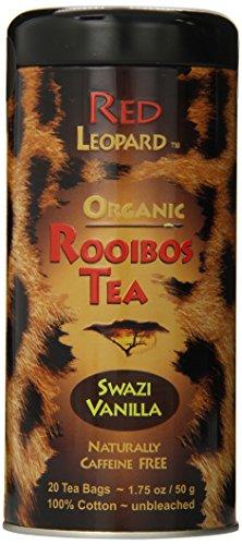 Red Leopard Organic Rooibos Swazi Vanilla Tea, 1.75-Ounce, 20-Count Tea Bags