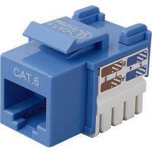 - BELKIN R6D026-AB6-BLU CAT6 KEYSTONE JACK 568A/568B BLUE CHANNEL CERTIFIED