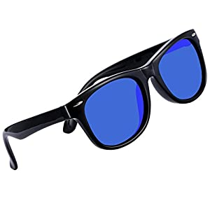 Coolsome Rubber Flexible Kids Polarized Sunglasses For Boys Girls Children Age 3-10 Years Old (Mirror Lens Black Frame)
