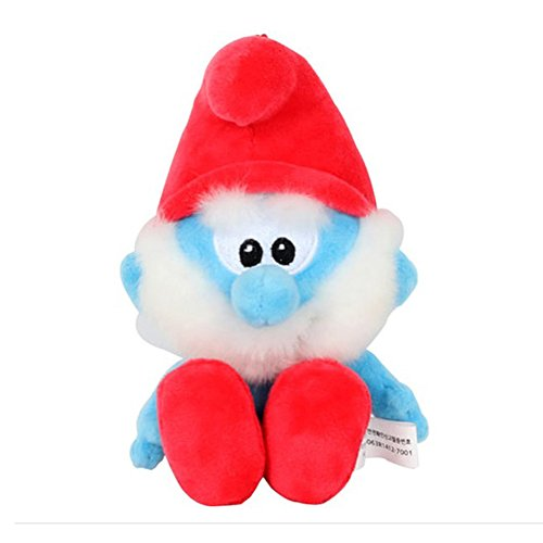 Smurfs Papa Smurf, Stuffed Animals Plush Toy for Kids Backpack Clip - Toys Plush Smurf