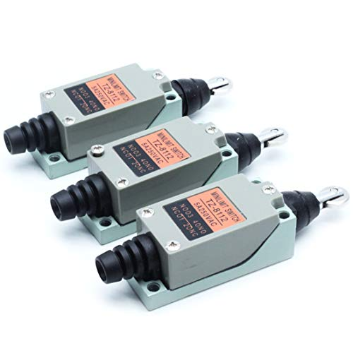 Roller Plunger Actuators - Mecion 3Pcs TZ-8112 Cross Roller Plunger Actuator Enclosed Momentary Limit Switch for CNC Mill Plasma