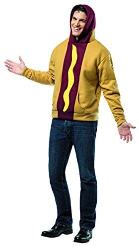 [Rasta Imposta Hot Dog Hoodie, Tan/Multi, X-Large] (Hot Dog Costume For Adults)