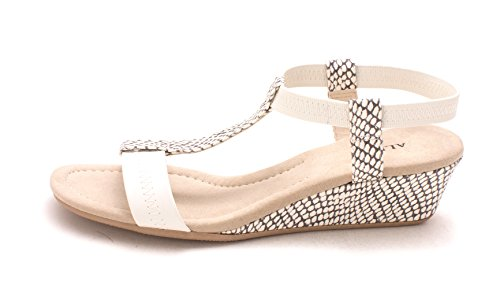 Alfani Womens Voyage Open Toe Casual Platform Sandals White Snake VsGaupKVw