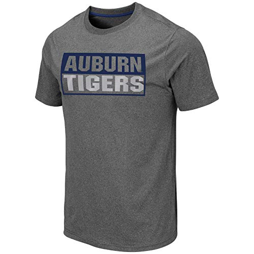 (Colosseum Men's NCAA Athletic T Shirt - Tagless Mens Tech Tee-Charcoal Grey-Auburn Tigers-XL)