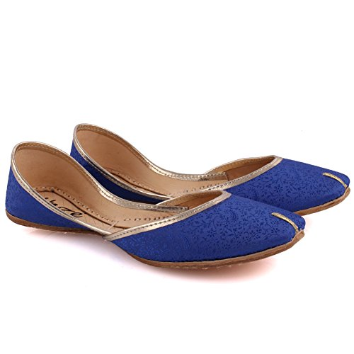 Unze 'Alejandrita'IndiaKhussazapatillasdelasmujeresReinoUnidotamaño3-8 Azul