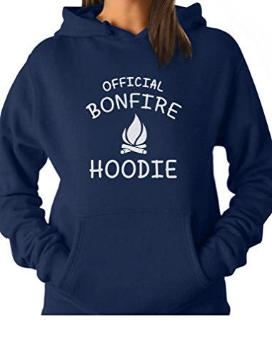 TeeStars - Funny Camping Gift Idea - Official Bonfire Women Hoodie X-Large Blue
