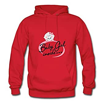 Custom X-large Hoodies Red Baby Girl Inside Designed Women Cotton S