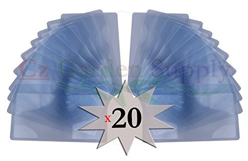 FIRE Starter Fresnel Lens 20 pack 3x Wallet Magnifier • Credit Card Size - Read Small Print - by Cz Garden