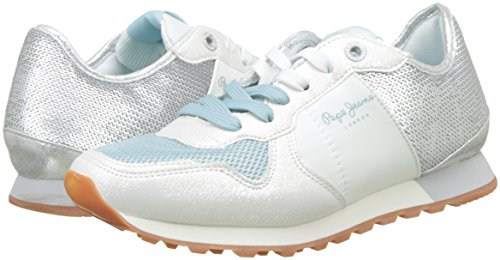 Pepe Jeans Argent Sequins W silver Femme Basses Sneakers Verona vgwfHqv
